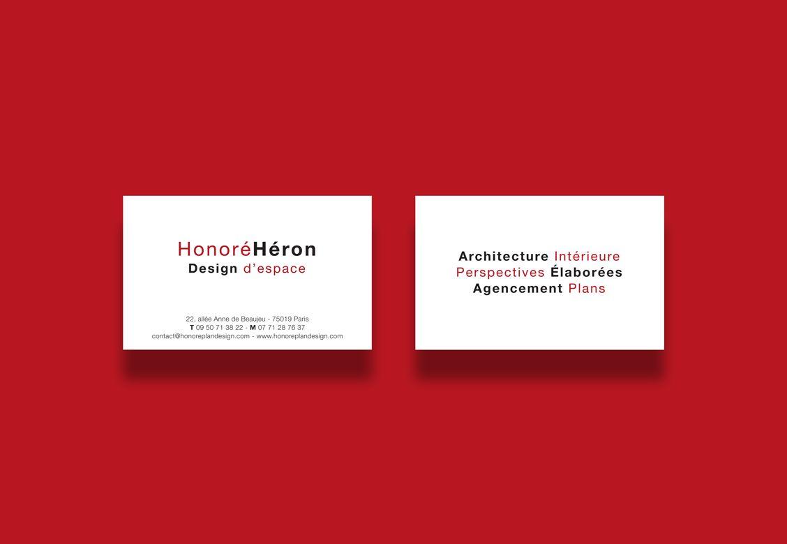Cartes de visite pour Honoré Alexis Héron