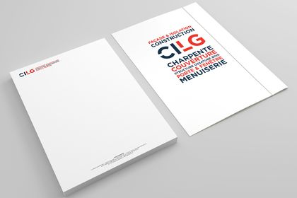Papeterie et dossier pour CILG Construction