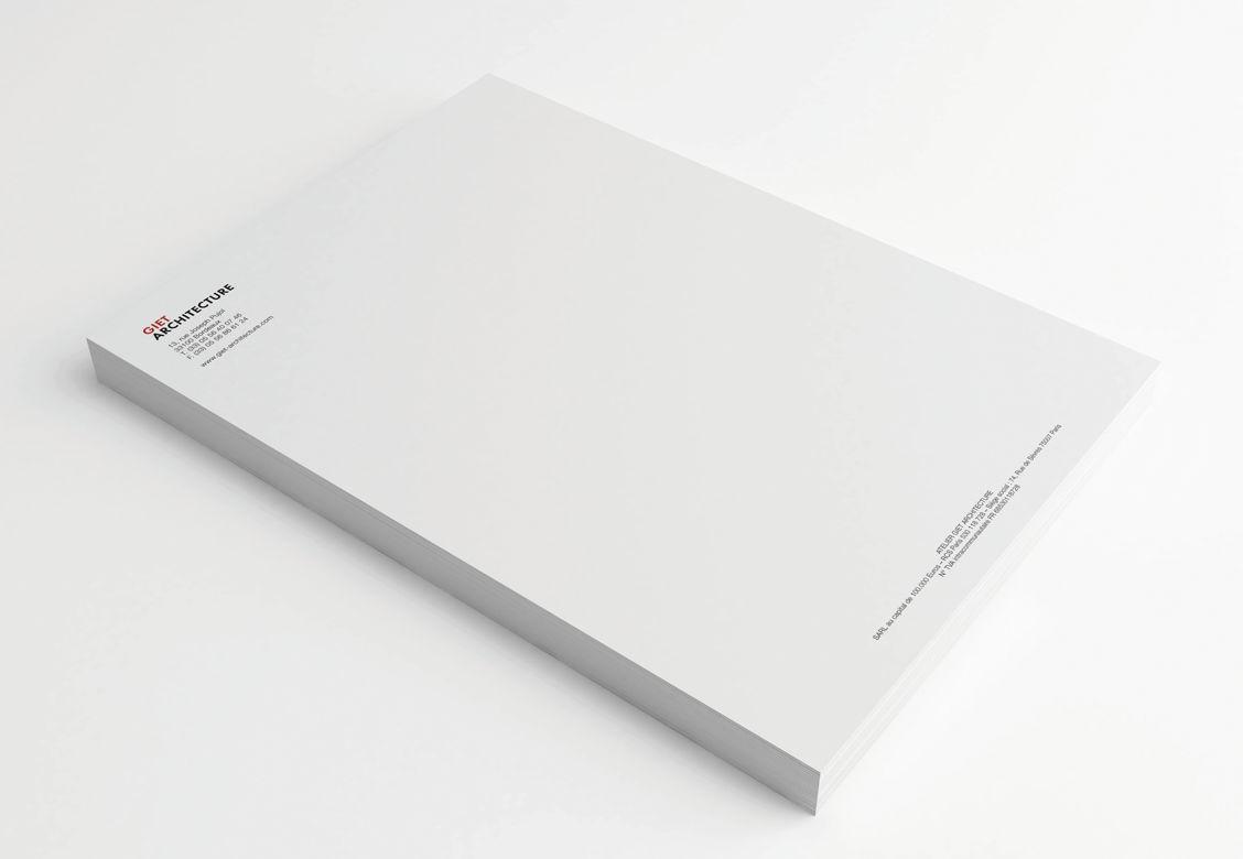 Papeterie pour Giet Architecture