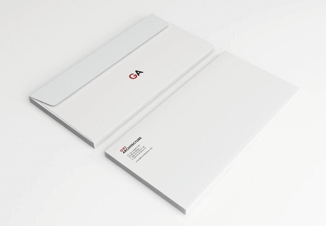Enveloppes pour Giet Architecture