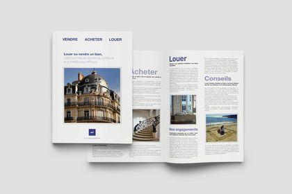Création d'une brochure pour M2 Conseils