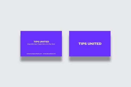 Cartes de visite pour l'application Tips United