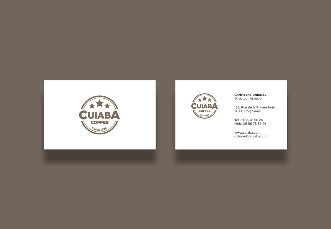 Cartes de visites pour Cuiba Coffee