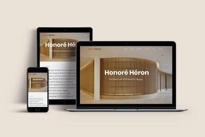 Site internet pour Honoré Alexis Héron