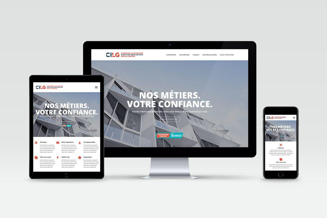 Site internet pour CILG Construction