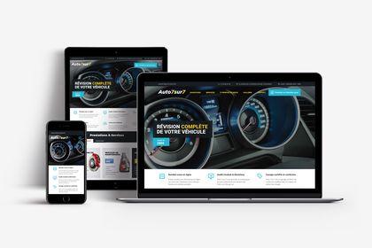 Site internet pour Auto7sur7