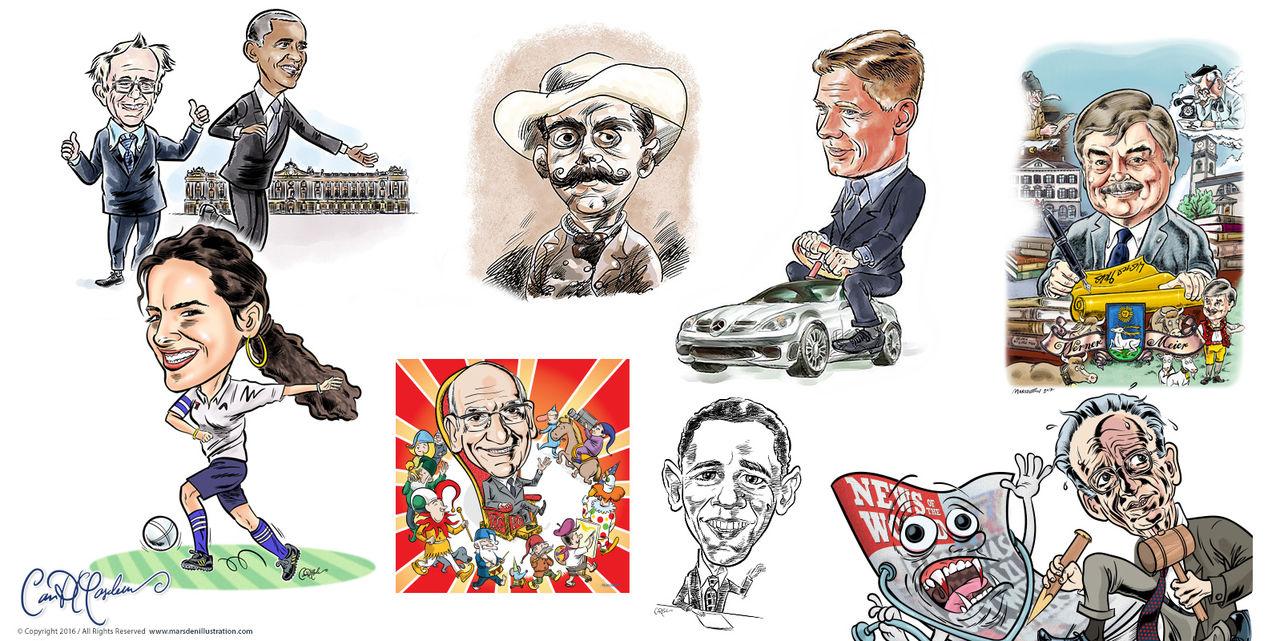 Caricatures  à partir de photos