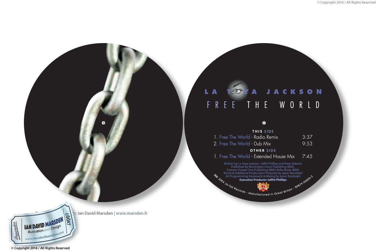 CD Cover Design et Logo La Toya Jackson