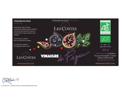 Etiquette Vinaigre de Figues