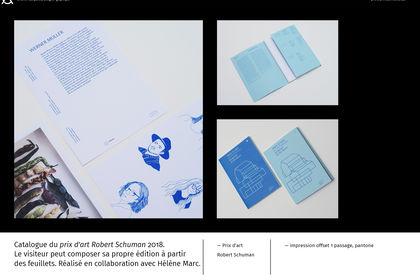 Catalogue prix d'art Robert Schuman