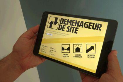 Déménageur de site – Logo et identité graphique