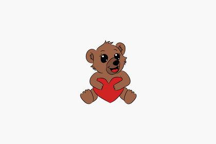 Logo mascotte : ourson