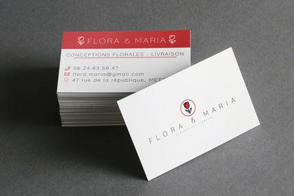 Cartes de visite pour des fleuristes