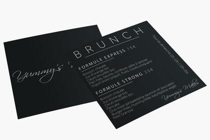 Carton brunch pour un restaurant