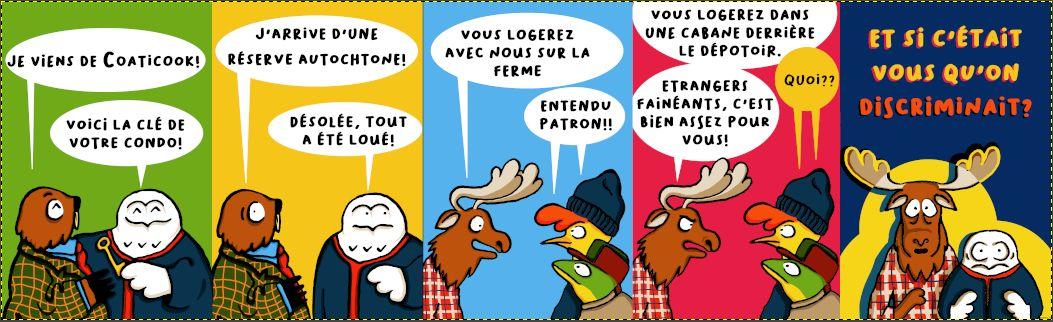 Comic Strip sur la discrimination xénophobe