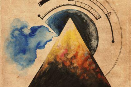 Triangle abstrait illustration