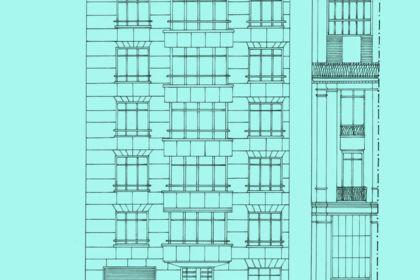 Illustration élévation immeuble