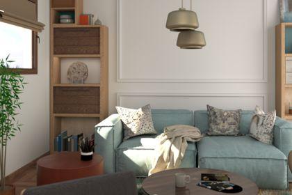 3D Cosy living room vue détail