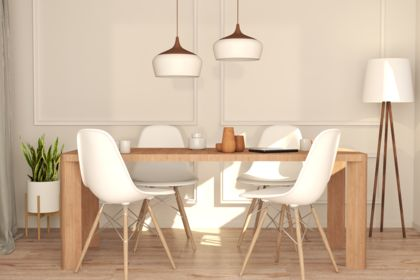 3D Scandinavian dining room