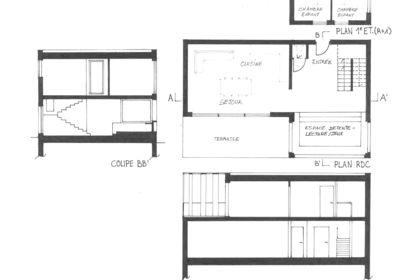 """Projet """"L"""" house 100m2"""