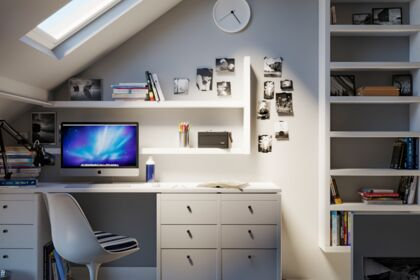 Scène 3D bureau de chambre