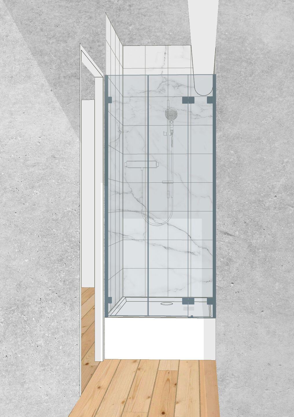 Illustration schématique de salle de bain