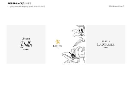 PERFRANCE / logotypes Lilies parfums