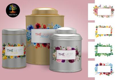 Étiquette boite thé