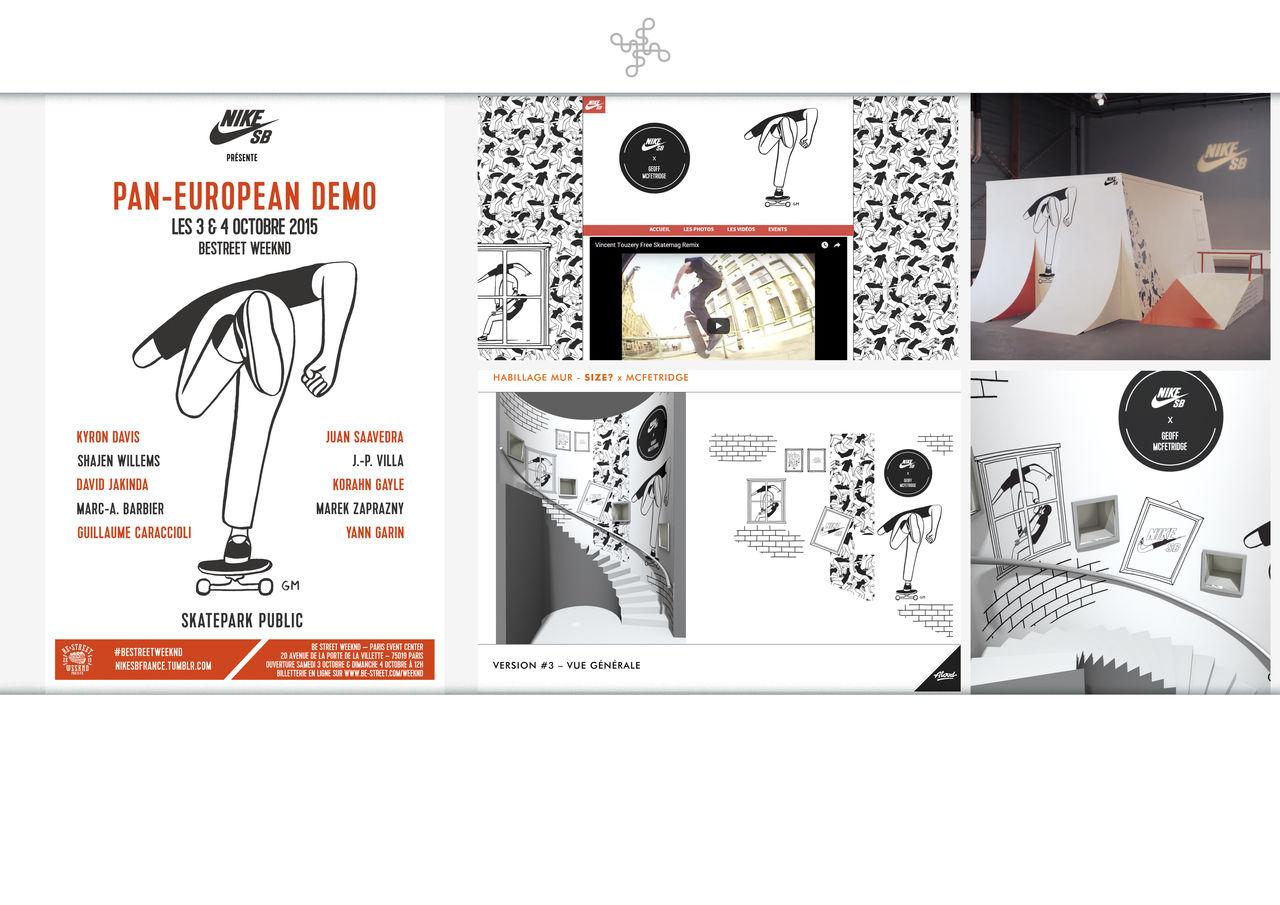 Campagne Nike x Geoff Mc Fetridge