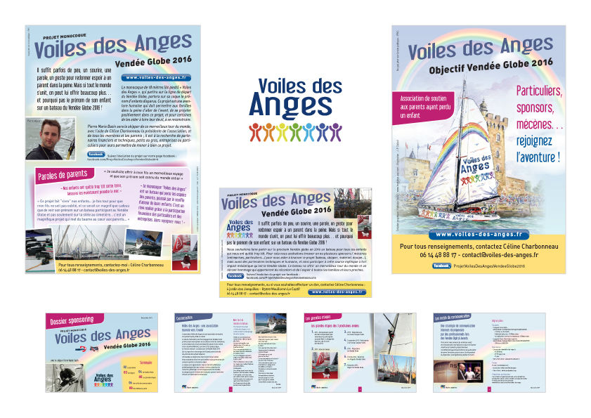 Association Voile des Anges : charte graphique et