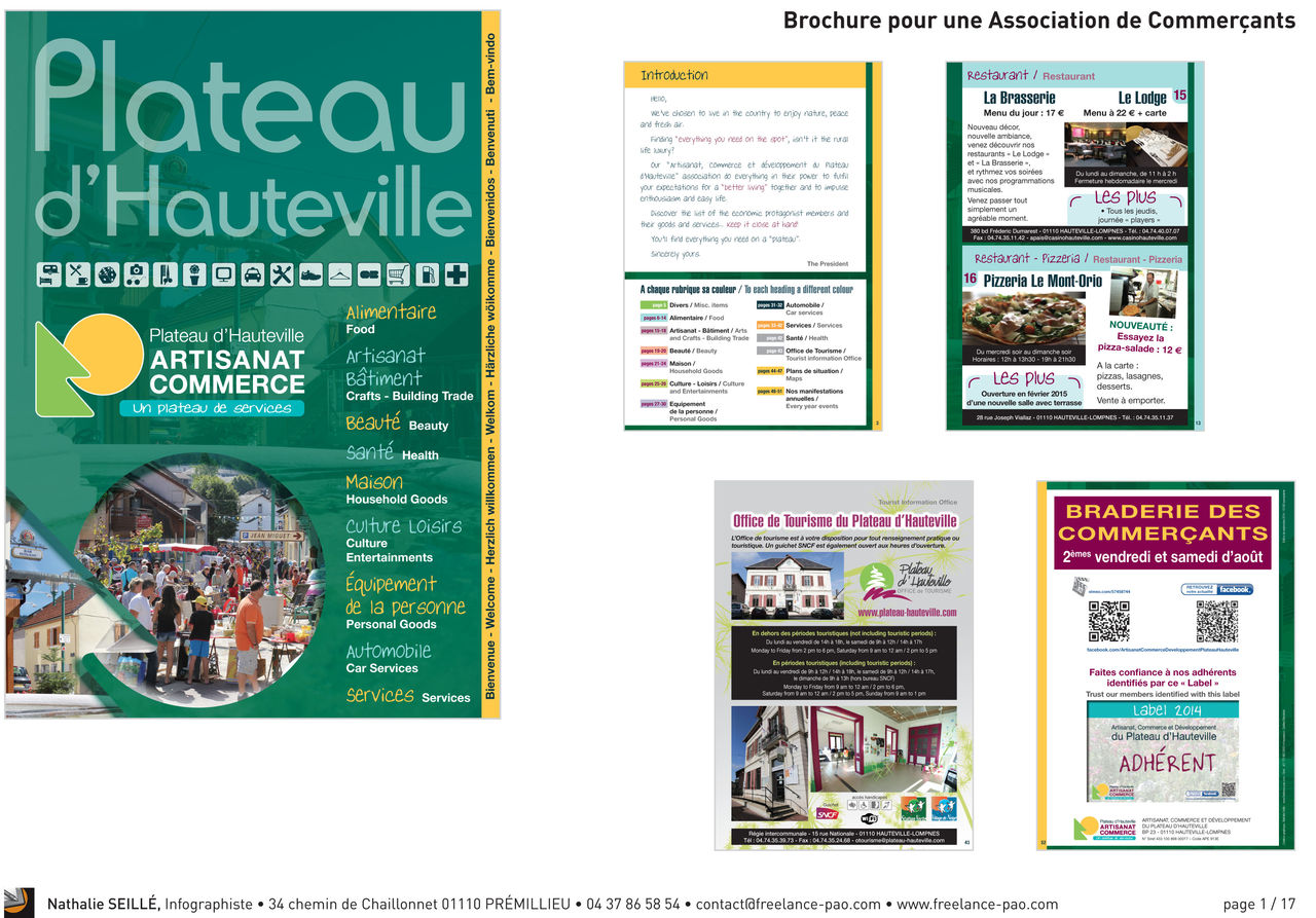 Brochure pour association de commerçants