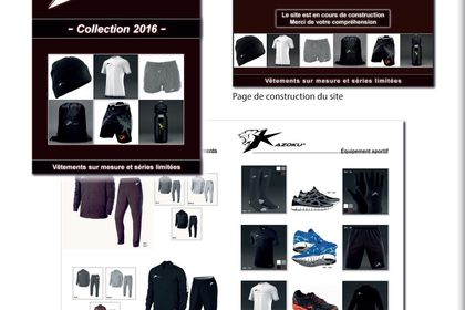 Catalogue 12 pages vêtements de sport