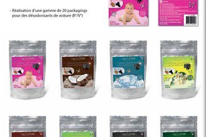 Réalisation d'une gamme de 20 packagings