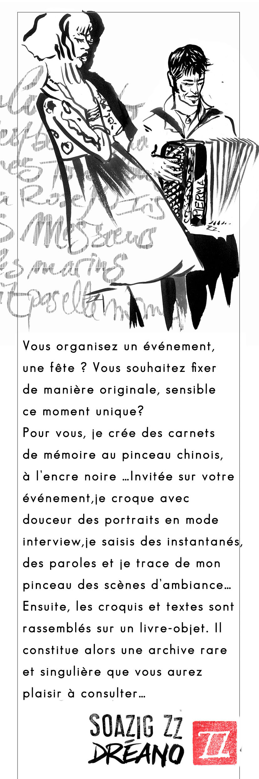 Fly reportage dessiné - croquis Soazig ZZ