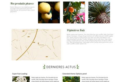 Site web pour pepinière