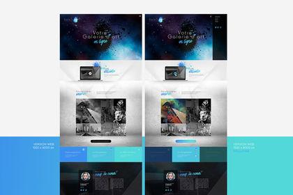 Webdesign pour une galerie d'art