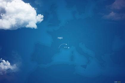 Carte de vœux pour l'Aéroport Nice Côte d'Azur