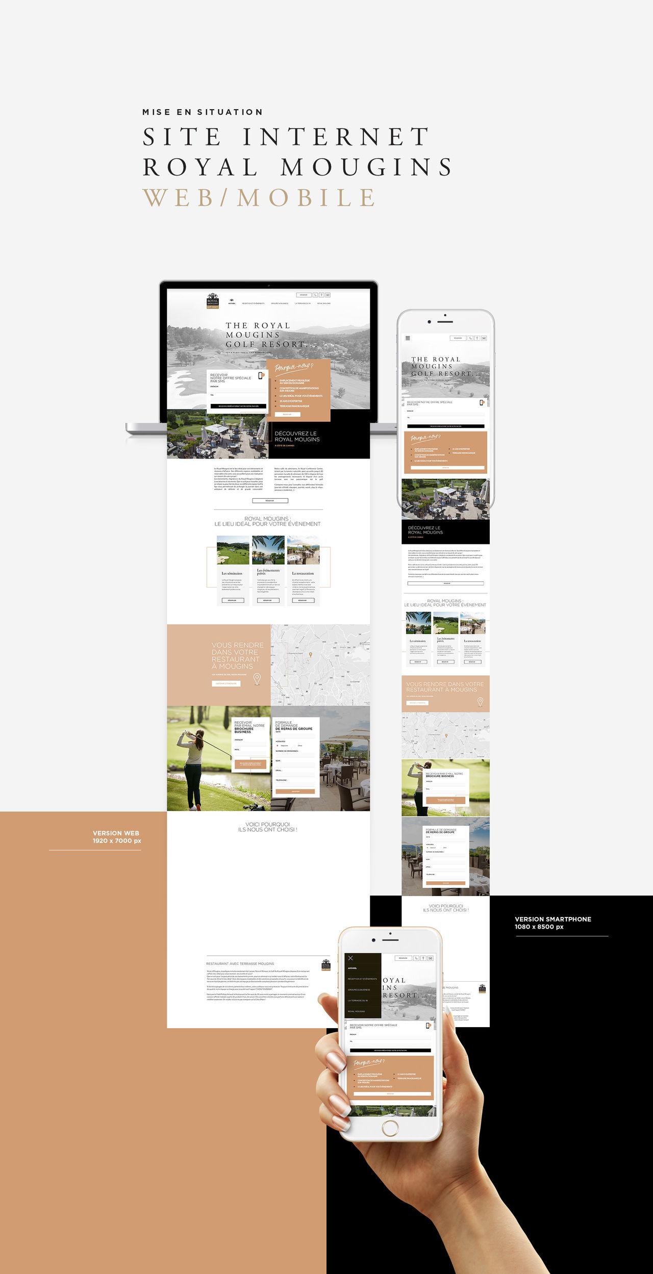 Webdesign pour le golfe Royal Mougins