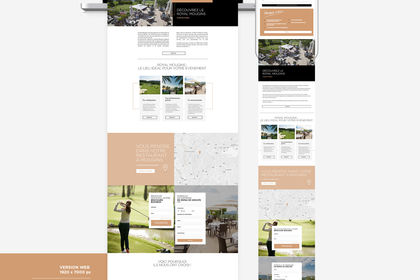 Webdesign pour le golfe Royal Mougins
