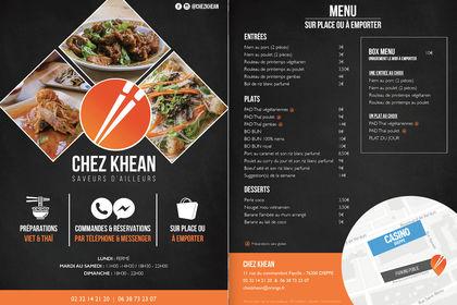 Flyer menu - Restauration