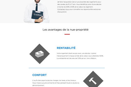 Landing page  - Immobilier
