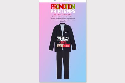 Promotion pressing costume