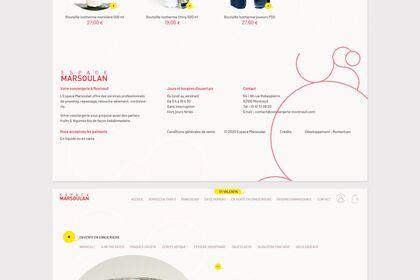 Site internet de la conciergerie Espace Marsoulan