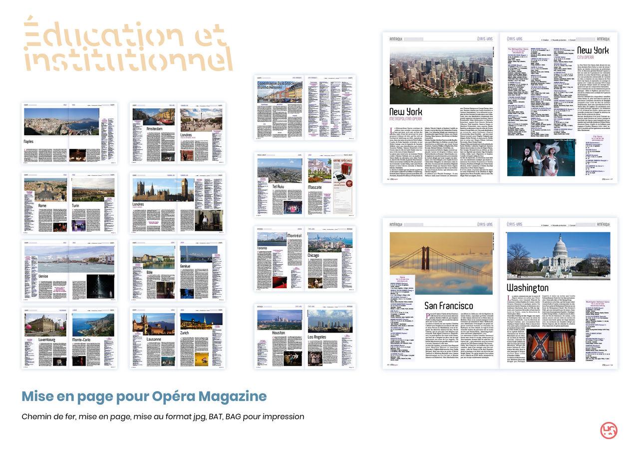 Mise en page pour Opéra magazine