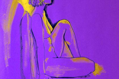 Dessin au trait et touches de peintures