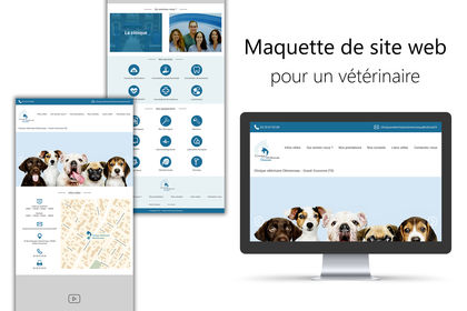 Maquette site vétérinaire