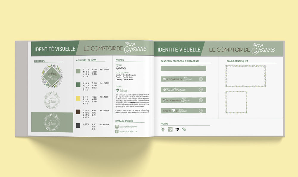 Charte Graphique Le Comptoir de Jeanne