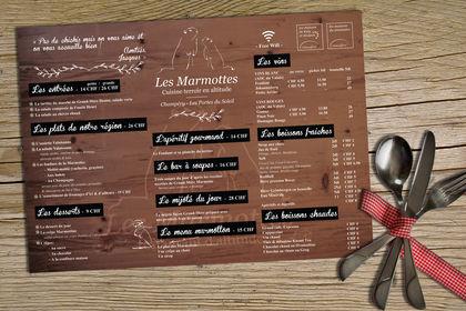 Set Table Les Marmottes