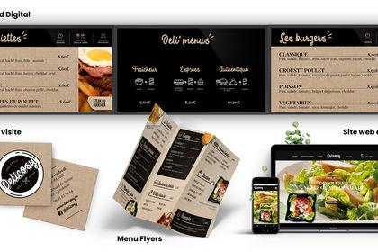 Identité visuelle du restaurant Delicosy Toulouse
