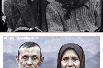 Restauration photographique avant et après